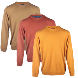 Mens Blu Cherry Mens And039parsecand039 Knitted Crew Neck Jumper Sweater Top Brave Soul