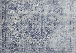 12and039x15and039 Loloi Rug Patina Polypropylene   Polyester Blue Stone Power-loomed Trans