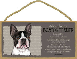 Advice from a Boston Terrier Sign Plaque Dog 10