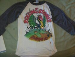 Real Authentic Rolling Stones Concert Tshirt 1982 Europe Uk Tour Opening J.geil
