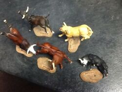 BREYER COLLECTIBULLS PBR 5 In All With Three In Nice Shape Cool Items