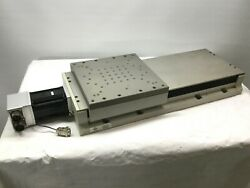 Aerotech Ats50030-m-40p Accudex Bearing Ball Screw Linear Stage 300mm W/motor