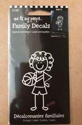 Family Decals Basketball Player Girl Car Sticker NIB A