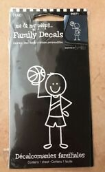 Family Decals Basketball Player Boy Vinyl Car Decal Sticker A