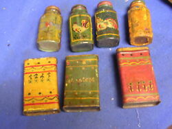 Primitive Collection Of Spice And Seasoning Tins