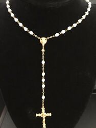 Vintage 1970's Vatican Papal Blessed Rosary - Gold Plated