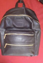 The Honest Company City. Leather Backpack Diaper Bag. Black New