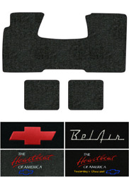 1955-1957 Chevy Nomad Floor Mats - 3pc -loop  2dr Wagon 1pc Frt And 2pc Rrs