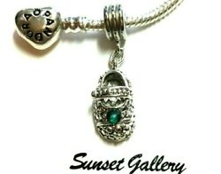 Baby Shoe Charm With Birthstone Fits Bracelets - Buy 2 Get 1 Free