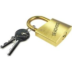 6-seachoice 1-1/4 Body 1-1/4 Shackle Solid Brass Body And Hasp Padlock 37201