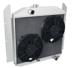 3 Row Rs Champion Radiator W/ 2 10 Fans For 1949 50 51 1952 Studebaker Pickup