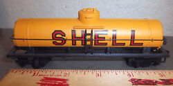 Model Train Shell Tanker Car Tyco Great Colors And Graphics Fun Collectible
