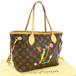 AUTH LOUIS VUITTON MOCA LIMITED NEVERFULL PM HAND TOTE BAG MONOGRAM NR07400