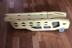 Bs7 Vintage 1960's Tonka Car Carrier Only Yellow Pressed Metal Toy