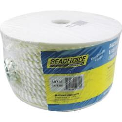 4-seachoice White 3/8 X 100and039 Nylon Twisted Strand Boat Anchor Line Rope 40711