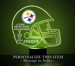 Pittsburgh Steelers Light Up, Personalized Free,nfl Football Led Sports Fanlamp