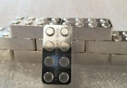 Lego 1 oz .999 Silver hand poured art bar building blocks usable great gift NEW $42.99