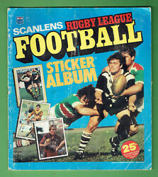 T74. Set 1983 Scanlens Rugby League Stickers And Album