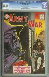 Our Army At War 91 Cgc 8.0 Cr/ow Pages // 1st Book Length Sgt Rock Story