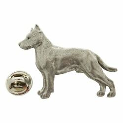 American Staffordshire Terrier Pin ~ Antiqued Pewter ~ Lapel Pin