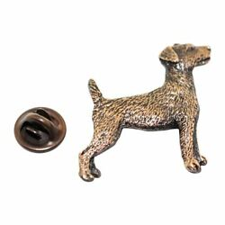 Jack Russell Terrier Pin ~ Antiqued Copper ~ Lapel Pin