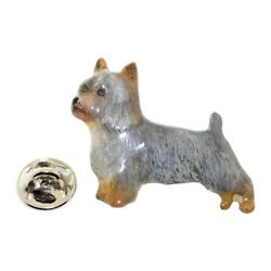 Silky Terrier Pin ~ Hand Painted ~ Lapel Pin