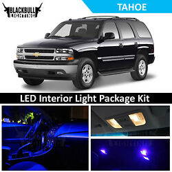Blue Led Interior Light Accessores Package Kit For 2000-2006 Tahoe 18 Bulbs