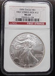 2006 Silver Eagle Ngc Ms69 From Box 12 Free Shipping