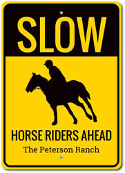 Caution Slow Sign Horse Rider Sign Slow Horse Sign ENSA1003110