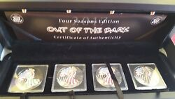 2017 American Silver Eagles Out of the Dark 4 Coin Collector Set COA Wood Box
