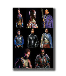 Black Panther Movie Marvel Comics Characters Fabric Poster Art TY746 -24x36 Inch