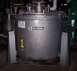 Delaval Centrifuge 48 X 30 Mk-iii Perforate 316 Ss 1150 Rpm Max Load 800 Lbs.