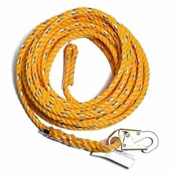Guardian Fall Protection 01345 Vl58-200 Standard 5/8 Inch Thick Rope With Sna...