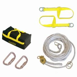 Guardian Fall Protection 04625 Polyester Horizontal Lifeline System With Tens...
