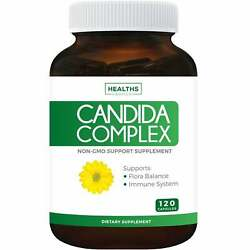 Candida Cleanse Non-gmo 120 Capsules - Yeast Infection Treatment Supplements