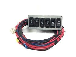 Boat Accessory Switch Panel 6 7/8 X 3 Lights, Winch, Tender Lift, Hatch