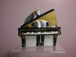 Old World Christmas Baby Grand Piano Glass Ornament