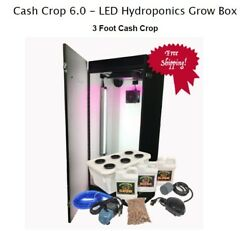 Hydroponics Grow Indoor System Kit Box 6 Plant LED Grow Light Water Farm US Made