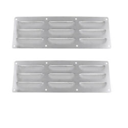 2pcs Stainless Steel Boat Louver Air Vent Ventilation Cover For Marine Rv