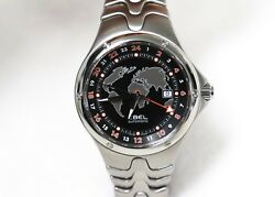 New Vintage Menand039s Ebel Sport Wave Gmt Auto Watch Dual Time Zones Water Resist