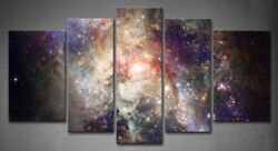 Framed 5 Wall Art Decor Star Space Nebulae Picture Print Canvas Nebula Pictures