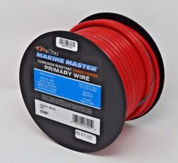 Deka 8 Awg Red Marine Tinned Copper Stranded Wire 100 Feet Spool Made In Usa