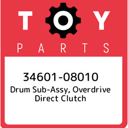 34601-08010 Toyota Drum Sub-assy Overdrive Direct Clutch 3460108010 New Genuin