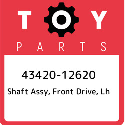 43420-12620 Toyota Shaft Assy Front Drive Lh 4342012620 New Genuine Oem Part