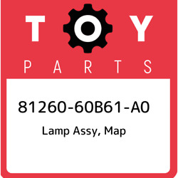 81260-60b61-a0 Toyota Lamp Assy Map 8126060b61a0 New Genuine Oem Part