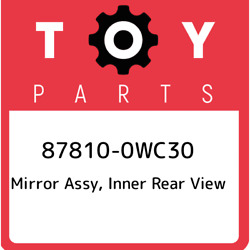 87810-0wc30 Toyota Mirror Assy Inner Rear View 878100wc30 New Genuine Oem Part