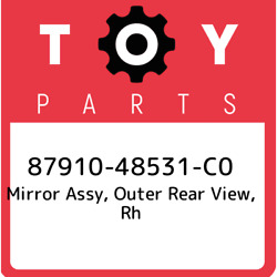 87910-48531-c0 Toyota Mirror Assy Outer Rear View Rh 8791048531c0 New Genuine