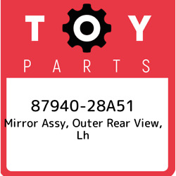 87940-28a51 Toyota Mirror Assy Outer Rear View Lh 8794028a51 New Genuine Oem