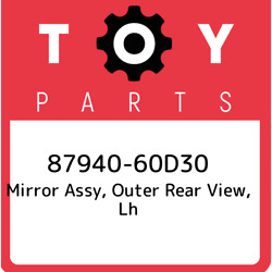 87940-60d30 Toyota Mirror Assy Outer Rear View Lh 8794060d30 New Genuine Oem