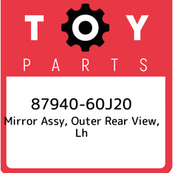 87940-60j20 Toyota Mirror Assy Outer Rear View Lh 8794060j20 New Genuine Oem